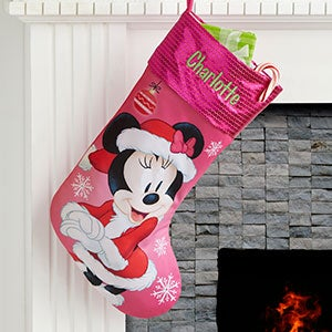 Personalized Minnie Mouse Stocking Christmas Clearance