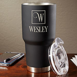 Personalized Big Boss 30 oz. Stainless Steel Monogram Tumbler - 17693