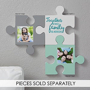 Puzzle Piece Wall Decor personalized family quotes wall puzzle pieces