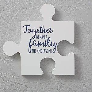 Charming Personalized Family Quotes Wall Puzzle Pieces   17697