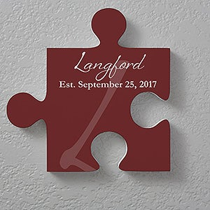 Puzzle Piece Wall Decor personalized family wall puzzle piece - family name