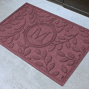 Personalized Leaf AquaShield Molded Doormat - Brittany Leaf Monogram - 17706D
