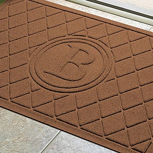 Argyle Monogram Personalized AquaShield™ Molded Doormat   - 17707D