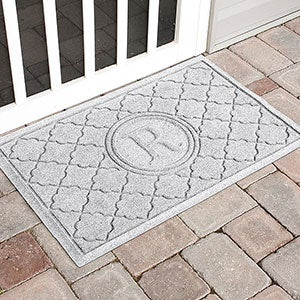 Personalized Monogram AquaShield Molded Doormat - Bombay Monogram - 17708D