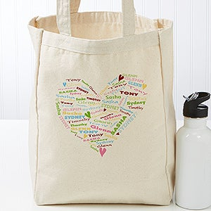 Personalized Canvas Tote Bag For Grandma - Her Heart Of Love - 17722