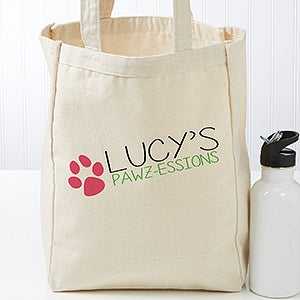 Personalized My Pawzessions Dog Pet Tote Bag - 17725