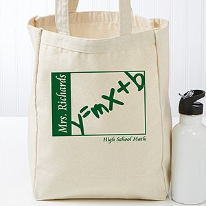 Personalized Teaching Professions Tote Bag - Class Subjects - 17726