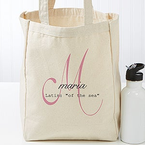Personalized Name Meaning Canvas Tote Bag - 17727