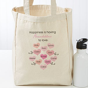 Personalized What Is Happiness Canvas Tote - 17728