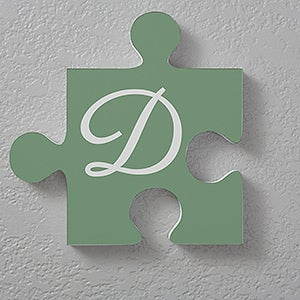 Personalized Initial Wall Puzzle Piece - Family Initial - 17741