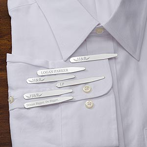 Personalized Business Logo Collar Stays - Set of 3 - 17746