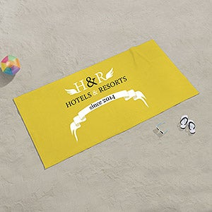 Personalized Business Logo Beach Towels - 17759