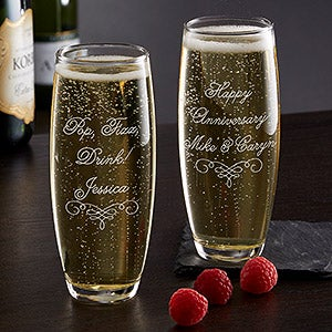 Write Your Own Personalized Stemless Champagne Flute - 17769
