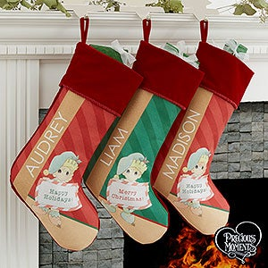 Precious Moments Christmas Elf Personalized Stocking - 17772