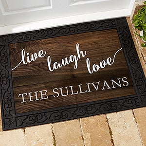 Personalized Family Doormat - Live Laugh Love