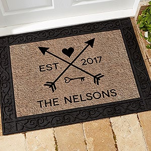 Arrows of Love Personalized Doormats