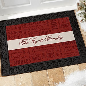 Personalized Christmas Doormats - Winter Melody - 17794