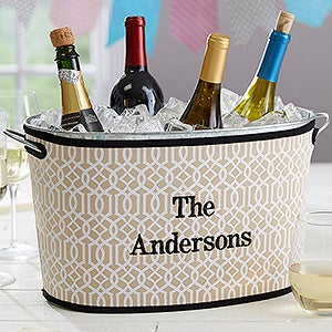 Personalized Beverage Tubs – Time to Party - 17820