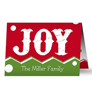 Personalized Christmas Cards - Jolly Jester - 17824