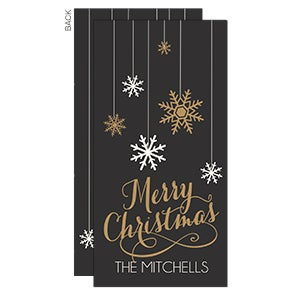 Personalized Christmas Postcards - Snowflakes - 17829