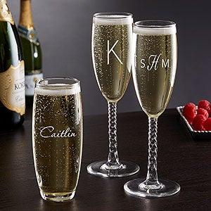 Personalized Classic Celebrations Champagne Glasses - 17832