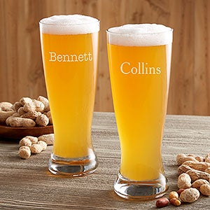 Personalized Beer Pilsner Glasses - Classic - 17833