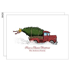 Personalized Vintage Truck Christmas Cards - Classic Christmas - 17838
