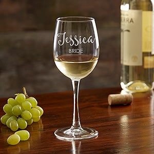 Engraved Bridal Party Wine Glass Collection - 17863