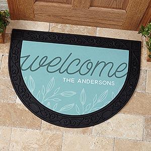 Personalized Half Round Doormat - Welcome - 17868