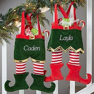 Personalized Elf Christmas Stockings