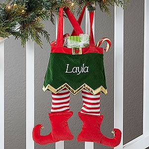 Personalized Elf Christmas Stockings - Girl Design - Christmas Gifts