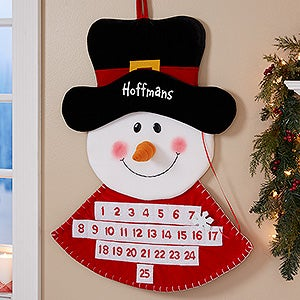 Personalized Christmas Countdown Calendar - Snowman - 17892
