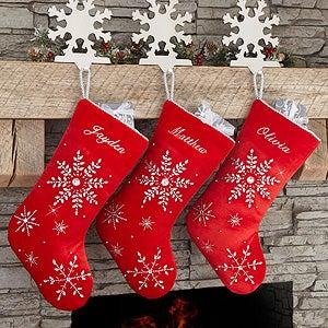 Personalized Velvet Christmas Stockings - Season's Sparkle - 17893
