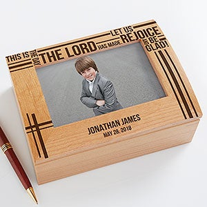Personalized first communion keepsake box buy first communion keepsake box and personalized it with the childs name and date see more first communion gifts at personalizationmall negle