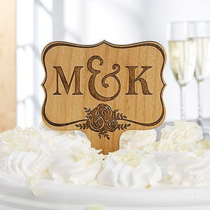 Personalized Cake Topper - Wedding Day Initials - 17902