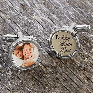 Custom Photo Cufflinks For Dad - 17906D