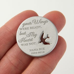 Personalized Pocket Tokens - Memorial Dove - 17908