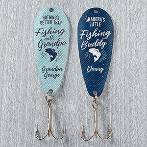 & Personalized Fishing Lure Set - Grandfather Fishing Gift