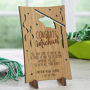 personalized wooden postcards graduation greetings