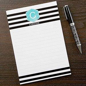 Personalized Notepads - Modern Stripe Design - 17923
