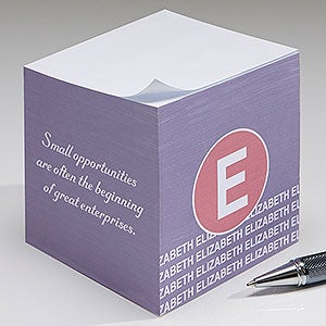 Personalized Note Cubes - Sophisticated Quotes - 17924