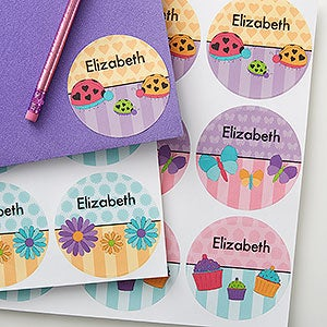 Personalized Kids Name Stickers For Girls - 17927