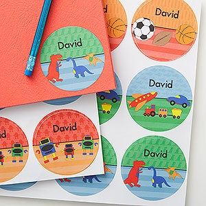 Personalized Kids Name Stickers For Boys - 17928