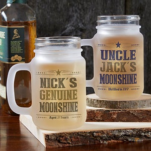 Personalized Frosted Mason Jar - Write Your Own - 17936