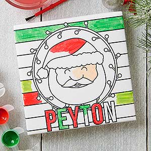 Personalized You Paint It! Christmas Canvas Print For Kids - 17938