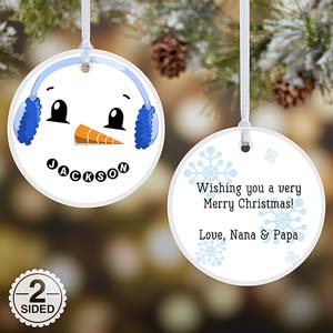 Personalized Snowman Ornaments - 17948