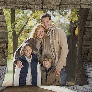 Personalized Photo Throw Pillow - Photo Memories - 17972