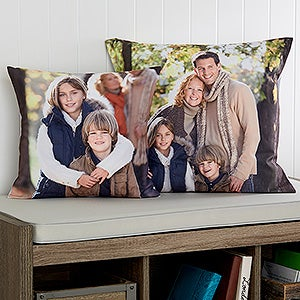 Personalized Photo Throw Pillow - Photo Memories - 17972
