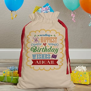 Personalized Birthday Canvas Gift Bag - 17975