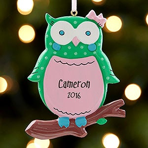 Personalized Owl Ornament - Owl I Want For Christmas - 17980